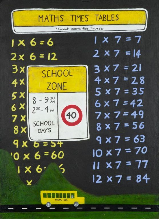 School-days-62-x-45-cm-Acrylic-on-hardboard